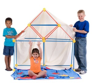 DIY Construction Fort, Build&Play Construction Fort,Plastic Construction Fort