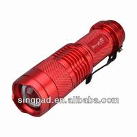 New Red Cree led Mini Flashlight torch light hid flashlight