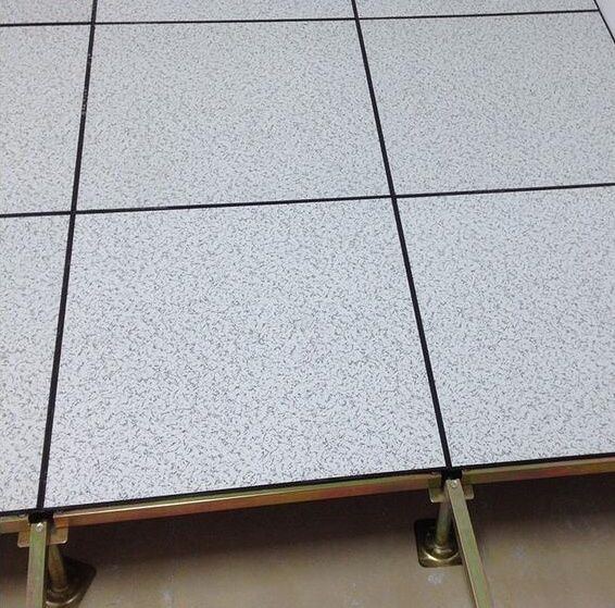 Anti static steel cement raised computer floor system