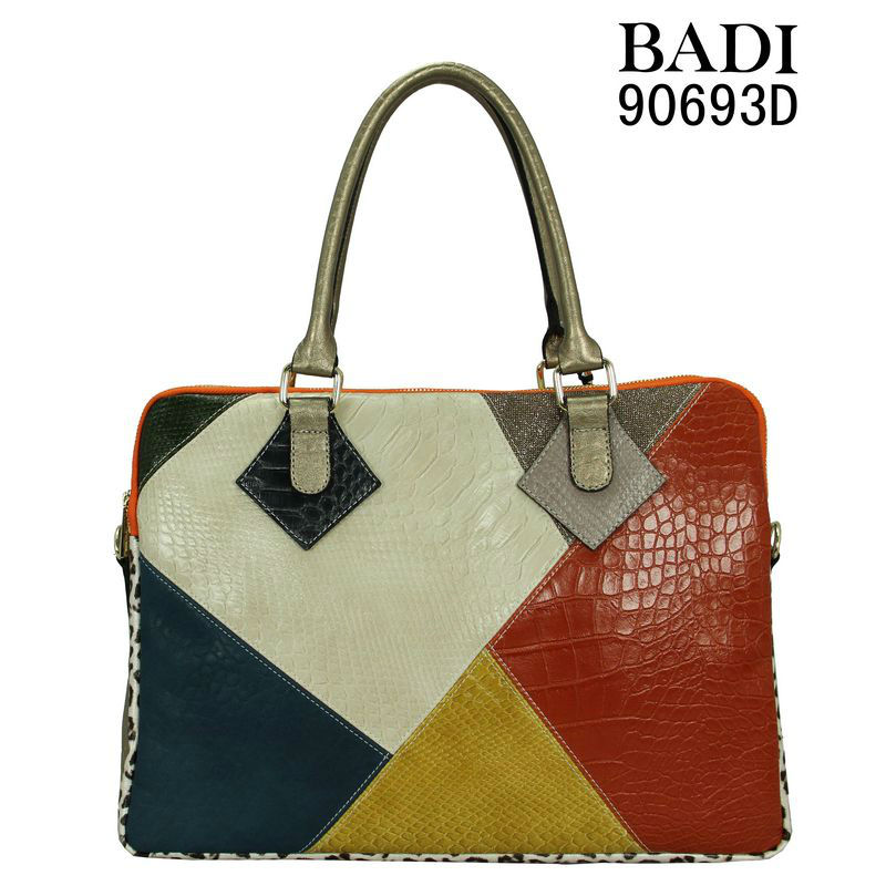 2013 colorful tote handbags bags snake croco animal texture combination handbags bags patchwork