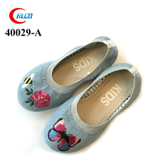 top quality embroidery cute walk baby shoes kids girls