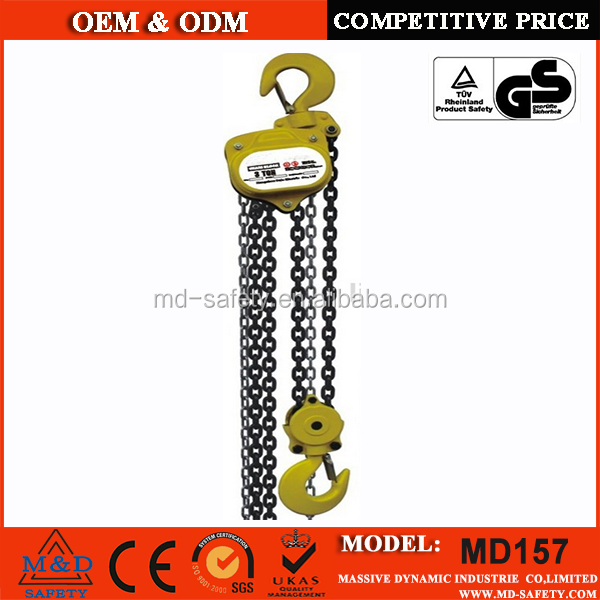 5 Ton vital type manual chain block, heavy duty lifting equipement