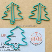 green Christmas tree Paper clip