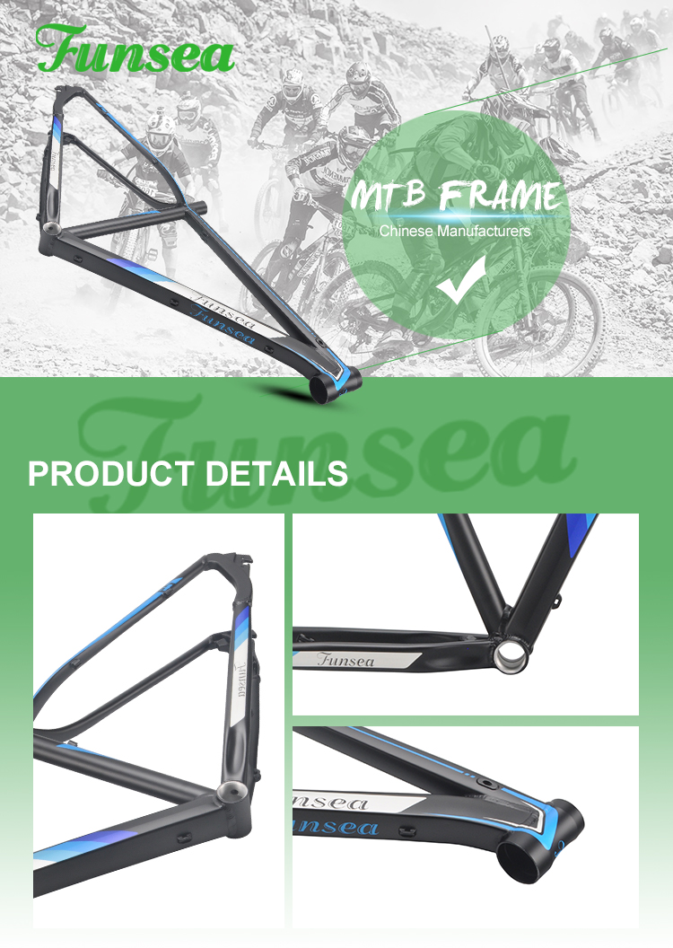 China Funsea wholesale high quality factory price OEM ODM mountain bike frames alloy 6061 mtb bicycle frame