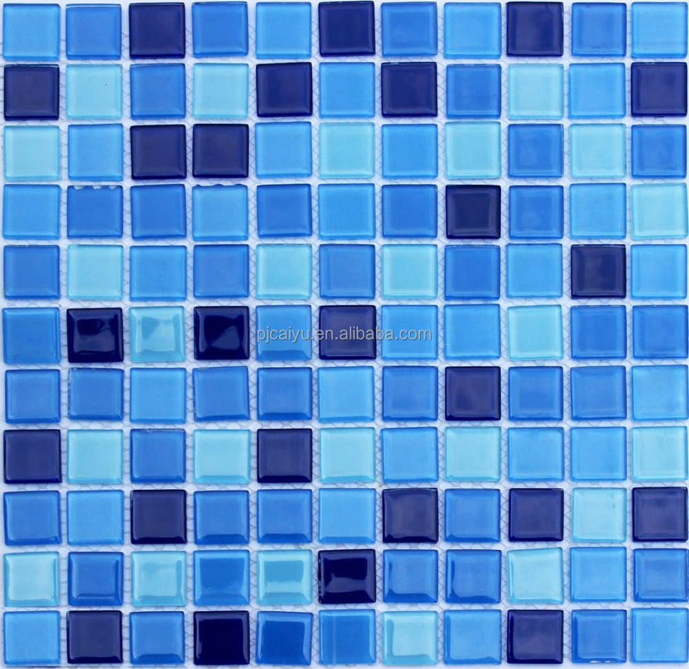 glass tile TVbackground Swimming pool mosaic