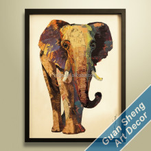 manufacturer african wild animal elephant oil painting on canvas