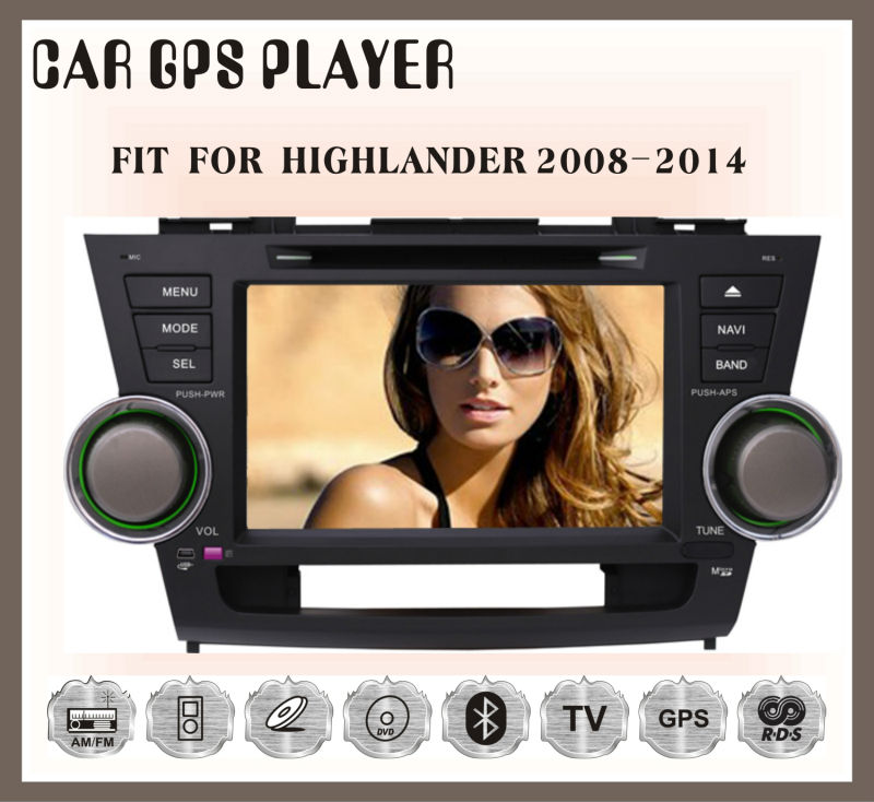Fit for Toyota highlander 2008-2014 8INCH in dash car dvd gps system