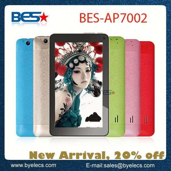 New arrival web cam 800x480 512M 4G 7 inch android tablet pc mp5