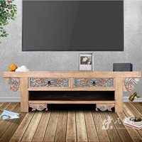 2 drawers antique living room furniture Plasma TV Cabinet LCD Wood TV Stand