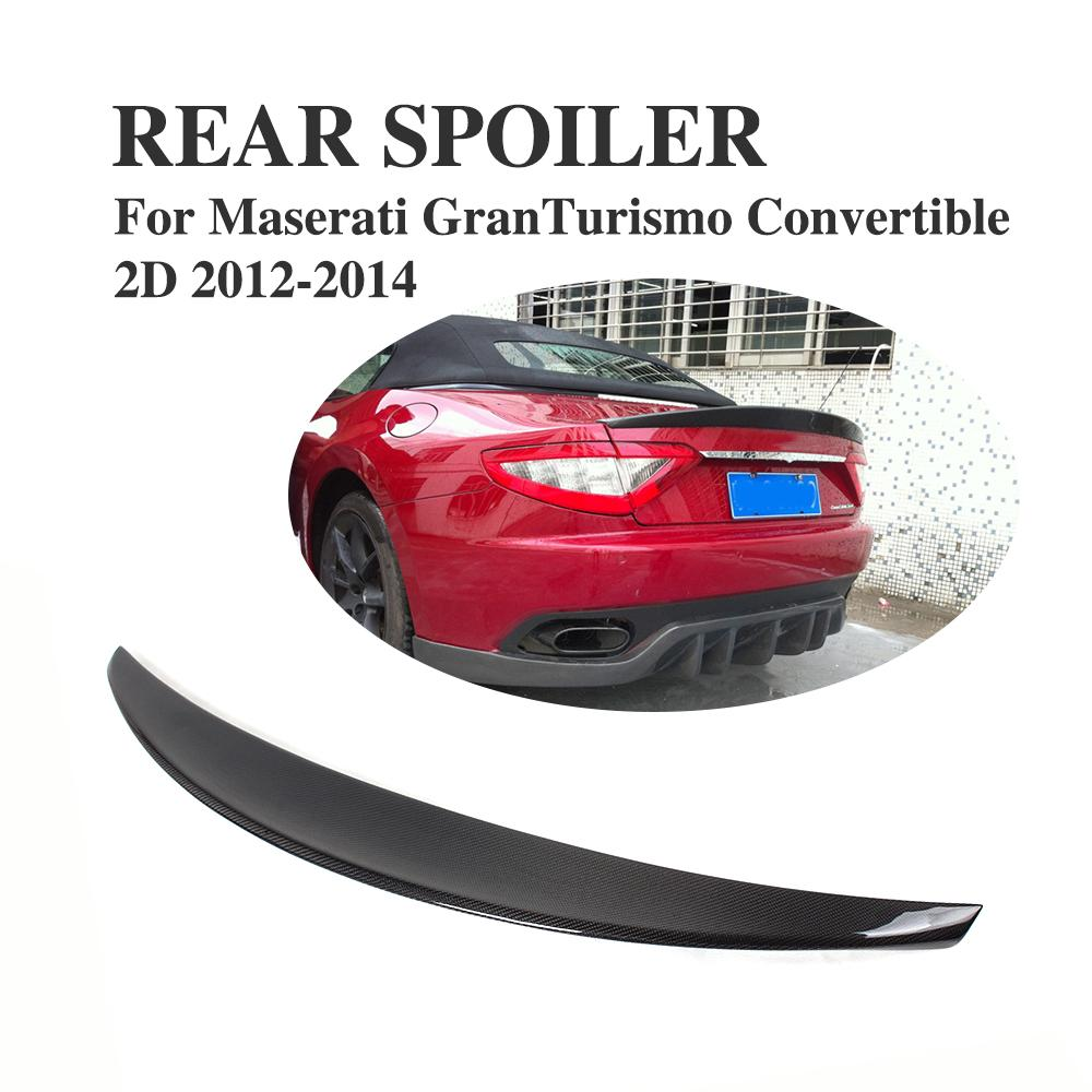 carbon fiber rear trunk spoiler for Maserati 06-10 Gran Turismo GT convertible