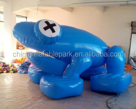 giant inflatable advertising frog cartoon for sale