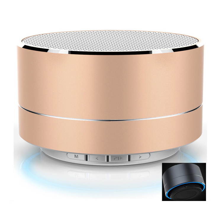 Best Selling Metal FM LED Wireless Portable Mini Bluetooth Speaker mini bluetooth speaker <strong>A10</strong>