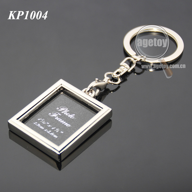 Promotional Photo Frame Square Shaped Blank Metal Bulk Photo Keychain
