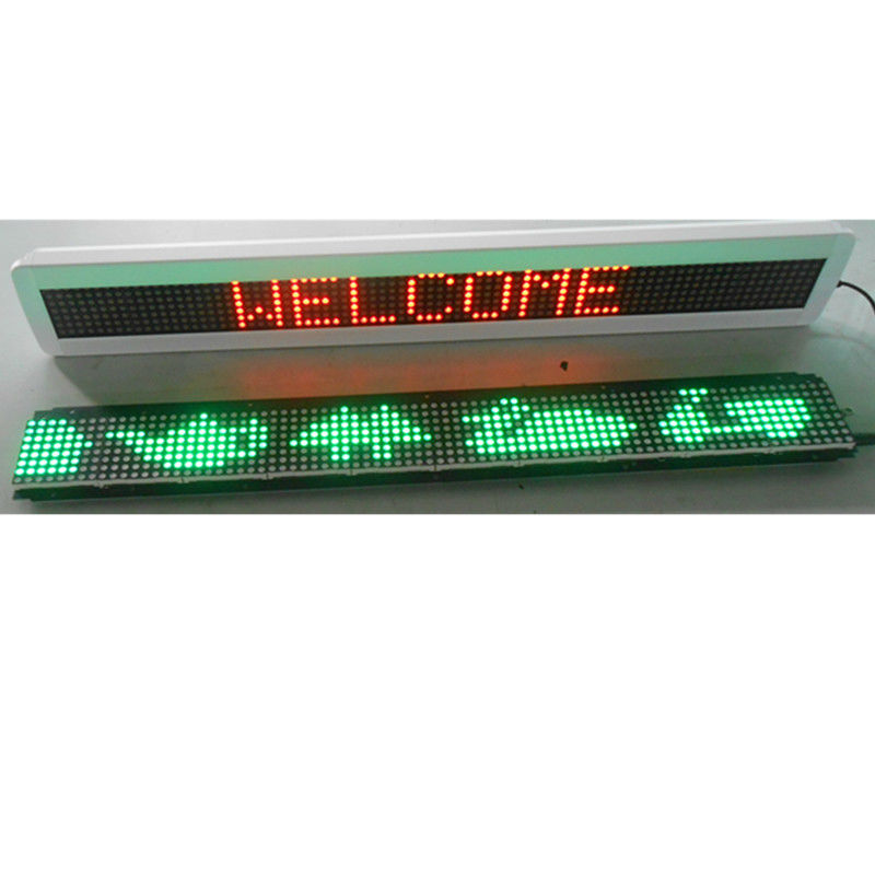 5V P7.62-7*80+Dot matrix module+Animation+White frame+English message display board+ LED moving message display+Bus/ Car display