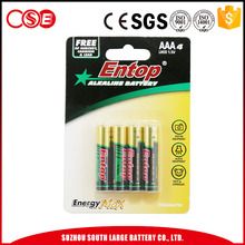 Eco-Frindly Portable AAA Alkaline Batteries