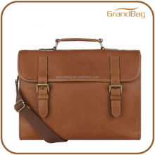 fashion handmade business men leather briefcase leather laptop bag
