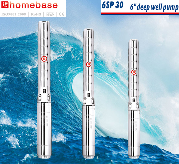 6SP30 6inch submersible borehole stainless steel water pump
