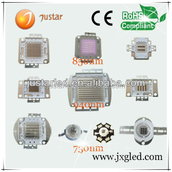 1w to 300w high power ir 940nm 730nm 850nm ir led chip