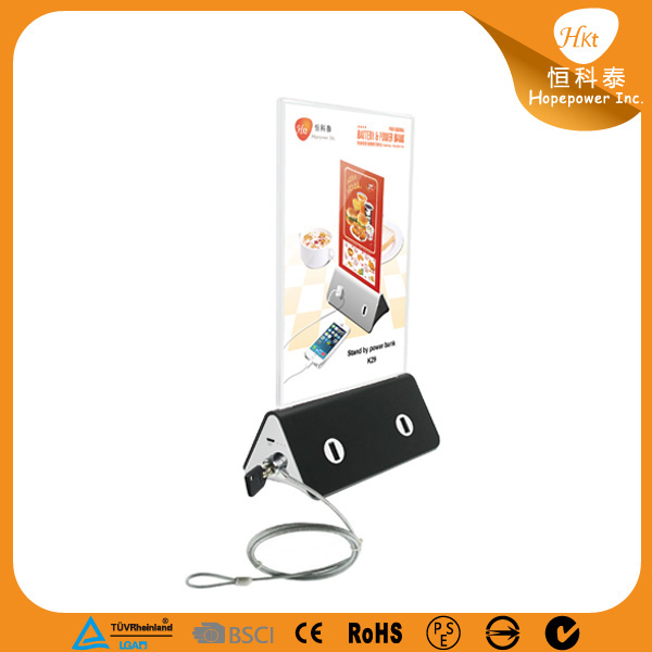 Hot sale menu power bank with customize logo printing and advertising poster, suitable for coffee shop and restaurant