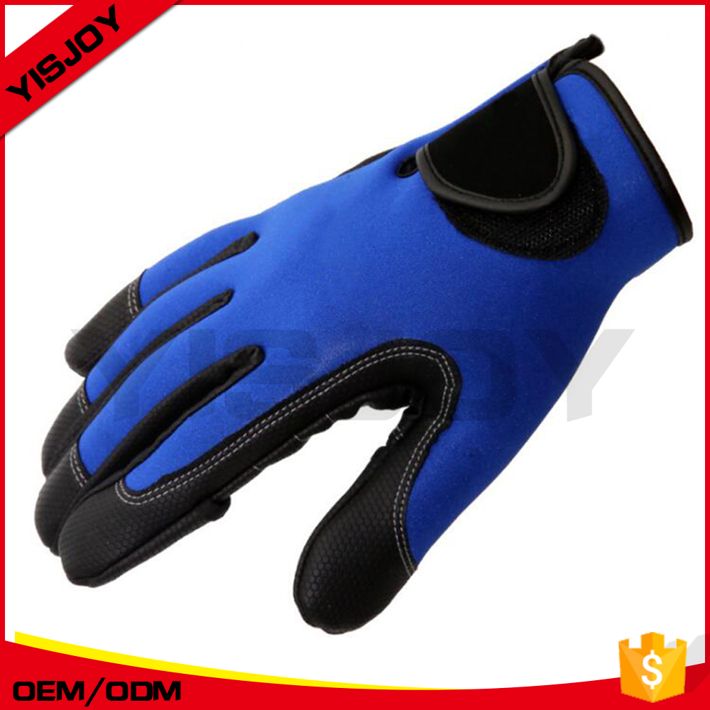 Custom full finger neoprene gloves for fishing