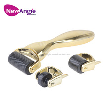 Hot-sale micro needling silvler golden eye wrinkle removal dermal roller 0.25