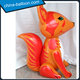 Lovely giant inflatable fox cartoon model / ground animal fox toy for commercial