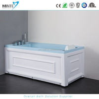special mixed white & aqua color spa bath hot tub