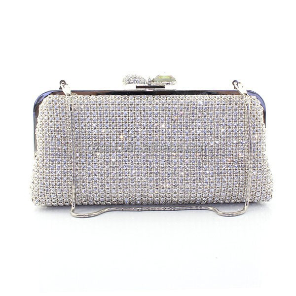 Graceful Golden Ladies Evening Crystal Clutch Pouch Evening Bag SC2402