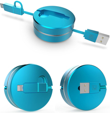 Multifunctional IOS Andriod Original Cafele Cable Micro USB Data Cable Retractable USB Charging Cable for iPhone