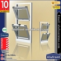 Canada stanard aluminium fame with double glazed glass double hung window