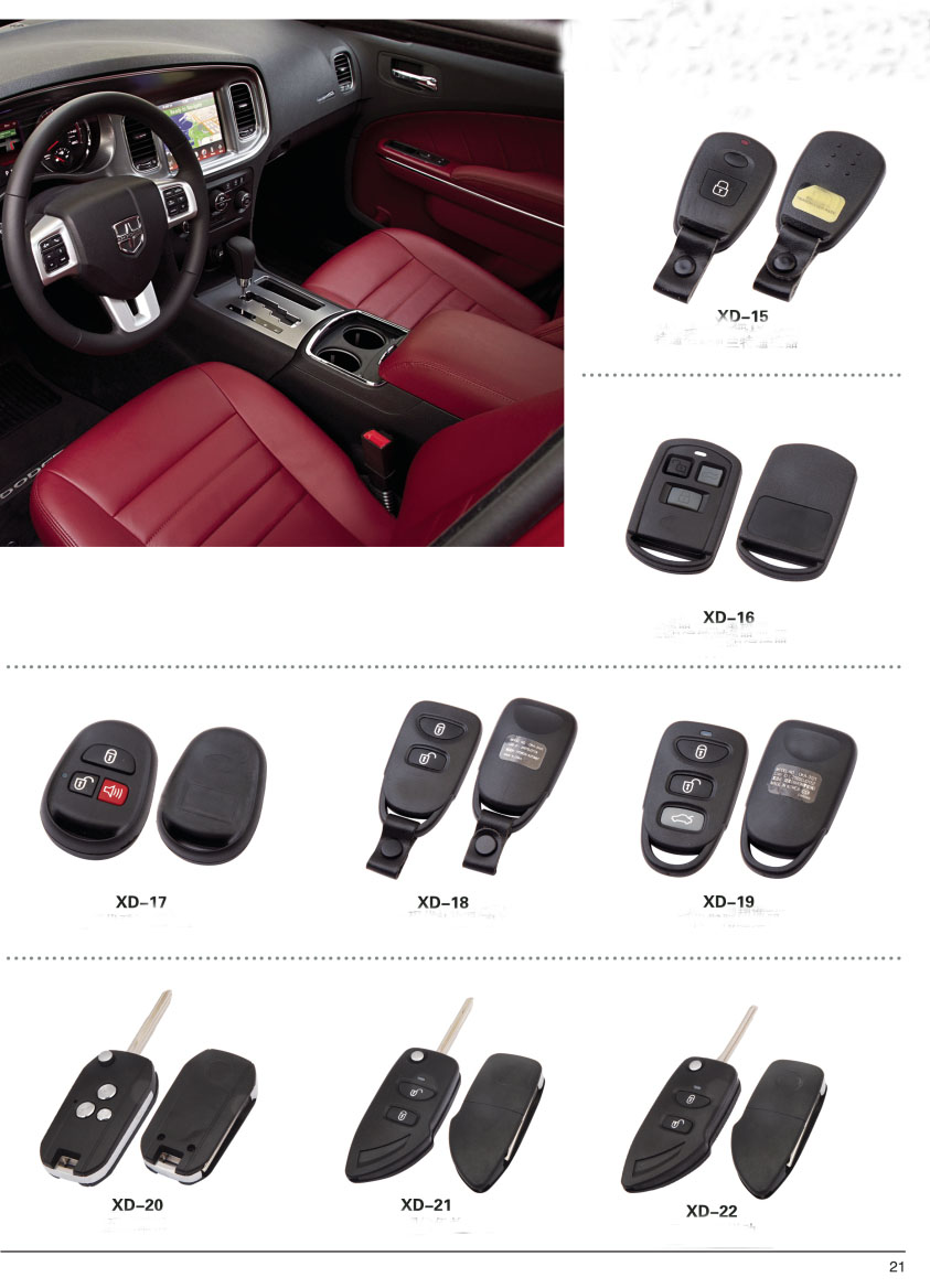 BT-06 For car key Blank replacement Hon 4 Buttons Auto Blank key Cover case