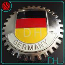 Hot sell custom Germany flag club metal soft enamel brass car emblem badge