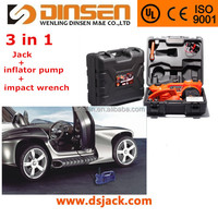 DINSEN 12v mini auto hydraulic jack with inflator pump & electirc impact wrench