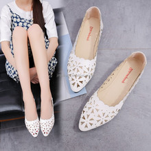 Latest new design western style women shoes comfortable sexy fashion flat lady shoes