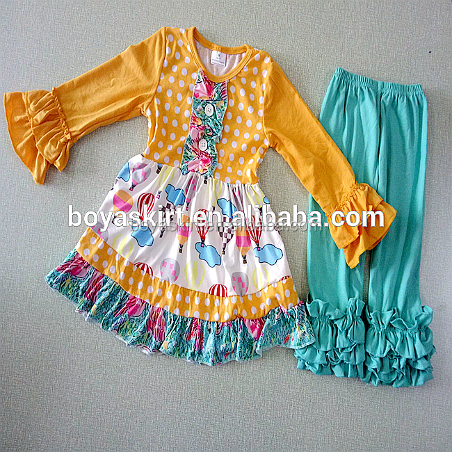 Children clothes suits Boutique Baby Girls Fall and winter Clothes lace tops and ruffle pants outfits