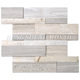 Low Price Strip Art Mosaic Tile With Ceramic Mix Natural Stone glass mosaic tile For Exterior Decoration Walls Villa mosaic t