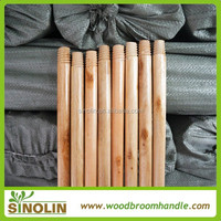 wholesale smooth threaded 1.2x120cm varnish painted broom stick wood