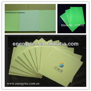 luminous board,photoluminescent rigid PVC board for safety warning signs