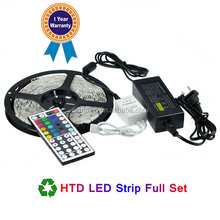 LED Strip 5050 SMD fiexible light best seller 5M RGB 5050 SMD 60 LED Strip Lights+ Remote control