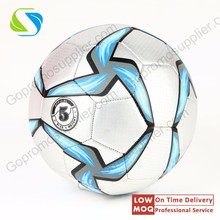2016 factory quality advertising free custom logo full printed pu size 3 4 5 match football & soccer low moq price