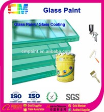 Durable anti scratch transparent water based glass paint