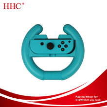 2PCS Set Blue and Red Color Joy-con Racing Steering Wheel for Nintendo Switch Console Gaming Accessory