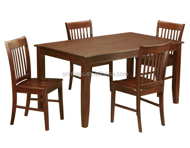 4 dining table and 4 chairs for dining room wood dining for Dining room sets 4 chairs