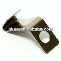 ISO OEM Favorites Compare nickel plated metal leaf flat spring clip clamp Z clip hardware