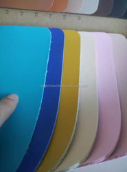 China Factory nicely DYEING pu leather for shoes durable