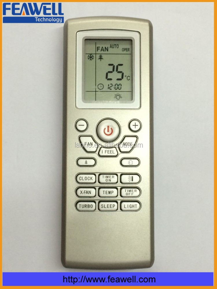big LCD display painting replacement Gree remote control for air conditioner