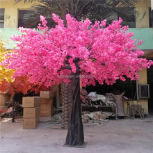 4m tall outdoor lighted red artificial silk cherry blossom flower tree E03 01193