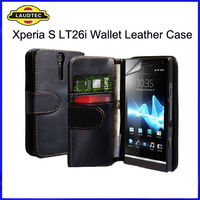 Wallet Flip Leather Case for Sony Xperia S LT26i, Back Cover--Laudtec