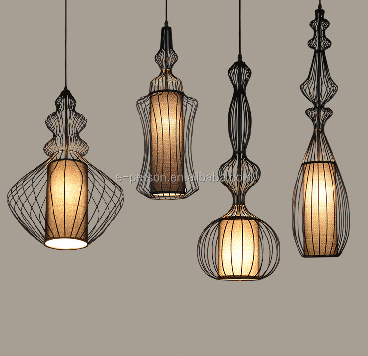 Vintage Industrial Style Cage Shape Design Pendant Lamp