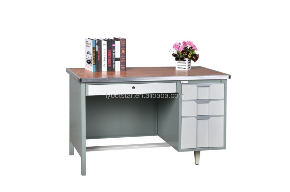 High Quality Simple 3 Drawers Steel Office Desk/ Steel Office Table